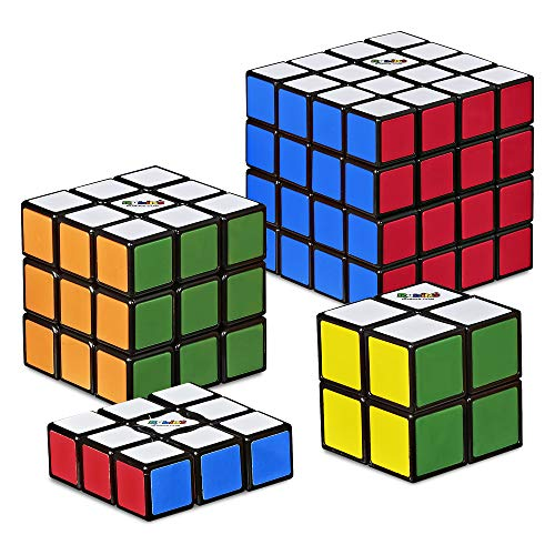 Hasbro Gaming Rubik's Solve The Cube Bundle 4 Pack, Original Rubik's Products, Toy for Kids Ages 8 and Up (Amazon Exclusive)