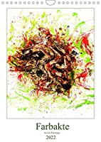 Farbakte - Action Paintings (Wandkalender 2022 DIN A4 hoch): Action Painting mit Akt (Monatskalender, 14 Seiten )