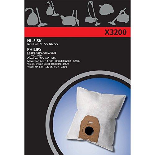 Electrolux X3200 X-Range 4 Staubbeutel Synthetik, u.a. für Philips Oslo, Vision, Classique