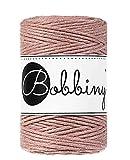 Bobbiny Cinta de colorete (100 metros de 1,5 mm), hilo de algodón, hilo de macramé, cordón de algodón, cuerda, cuerda de yute