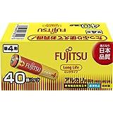 富士通 【Long Life】 アルカリ乾電池 単4形 1.5V 40個パック 日本製 LR03FL(40S)