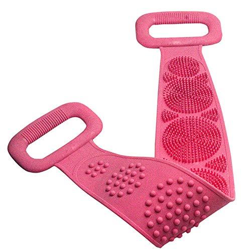 Yorten Esfregão dorsal de silicone, banho de chuveiro Escova de silicone para massagem corporal Toalha de banho de silicone Cinto de escova esfoliante corporal, cinta de chuveiro de limpeza 72 cm