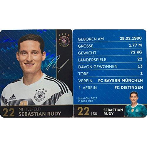 Rewe 2018 WM DFB Russland - Glitzer Einzelkarten Sammelkarten Komplettset (GLITZER KARTE NUMMER 22 - SEBASTIAN RUDY)