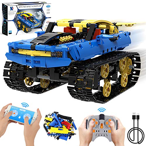 Remote Control Learning Car Building Set, Off-Road Tracked Car for Kids Programmable Engineering Car Building Kits 572 PCS, APP & 2.4Ghz Remote Control Vehicle Best Gift for Kids 6+ Year Old
