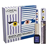 L'Oréal Paris Kit Make Up Occhi Edizione Limitata Basta uno Sguardo, Cofanetto Occhi con Mascara Volumizzante e Allungante + Eyeliner Resistente all'Acqua, Blu