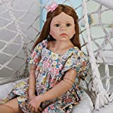 Reborn Dolls Poupée Rebirth 38 Pouces 98cm Simulation Reborn Toddler Silicone Vinyle Fille avec de...