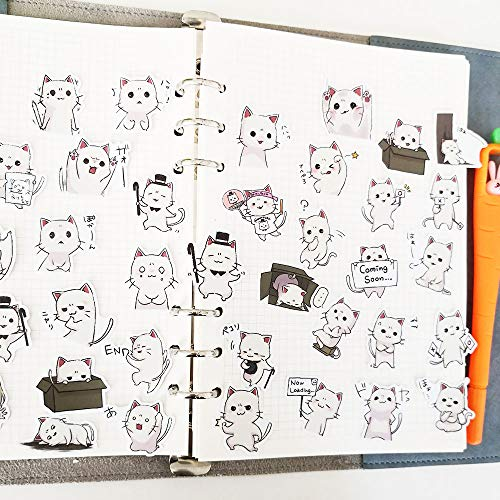 TTBH Cute Cat Emoji Stickers Hand-Billed DIY Decorative Material Korean Cartoon Stickers Primary School Students Reward Paste