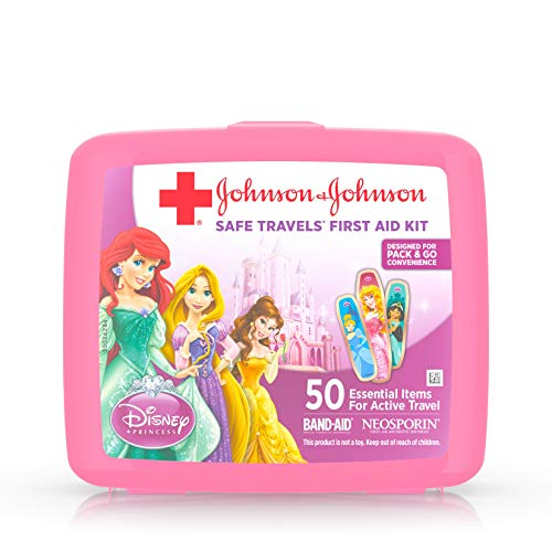 Price comparison product image Johnson & Johnson Red Cross Brand Safe Travels First Aid Kit Featuring Disney Princess