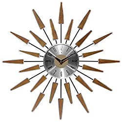 Infinity Instruments Satellite Clock, Walnut