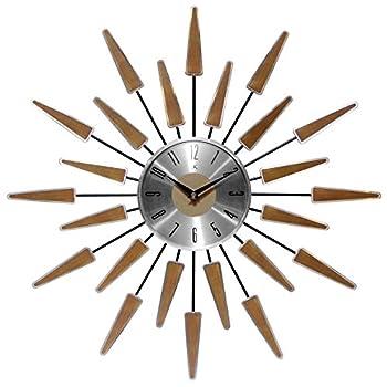 Infinity Instruments Satellite Clock Walnut