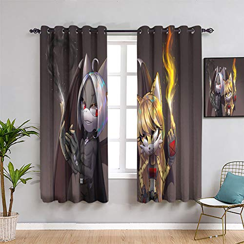 Elliot Dorothy Thermal Insulated Darkening Curtains sonic characters Curtains for Living Room Window Curtain Fabric W72 x L63