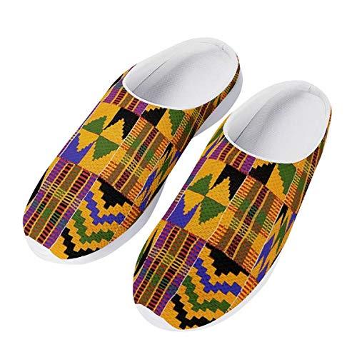 chaqlin Mode Frauen Sommer Mesh Sandalen 3D Tiere Slip-on Hausschuhe Atmungsaktiv Weibliche Strand Wasser Schuhe, - Afrikanischer Ethno-Stamm - Größe: 39 EU