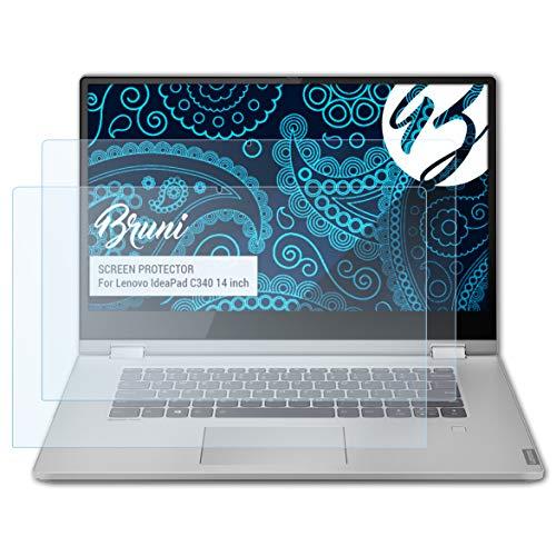 Bruni Schutzfolie kompatibel mit Lenovo IdeaPad C340 14 inch Folie, glasklare Bildschirmschutzfolie (2X)