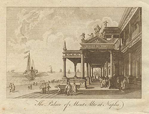 The Palace of Mont Alto at Naples. Palazzo Montalto. Italy. BANKES - 1789 - Old Print - Antique Print - Vintage Print - Printed Prints of Italy