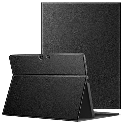 Fintie Case for Microsoft Surface Pro X (2020/2019) - Soft TPU Back Protective Cover Compatible with Type Cover Keyboard for 13 Inch New Surface Pro X (Black)
