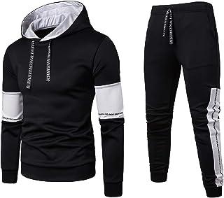 CBTLVSN Mens Autumn Long Sleeve Jogging Tracksuit Hoodies Pullover Joggers Set Sports Apparel