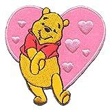 Disney Winnie the Pooh Heart Decorative Iron-On Patch 6 x 6 cm