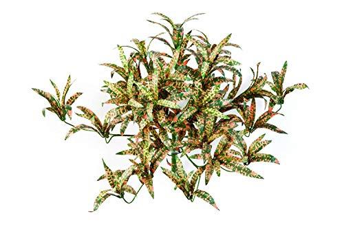 artplants.de Deko grünlilie Lavinia, 280 Blätter, rotgrün getupft, Ø 40cm, 35cm - Lilie künstlich - Dekopflanze