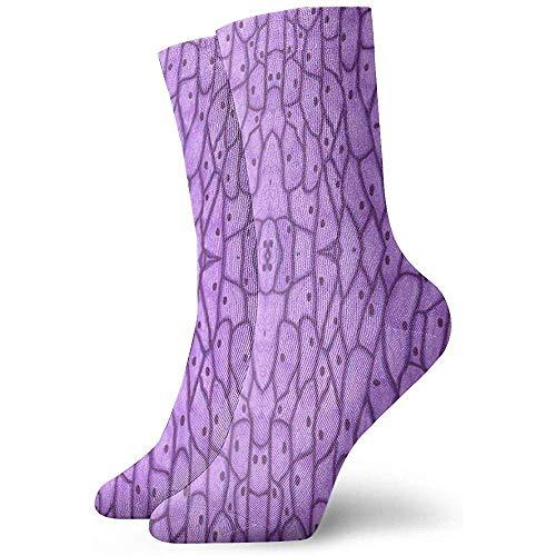 Mikroskopische Zwiebelzellen Unisex Soft Crew Sock All-Seasons Short Sportsocken