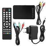 01 Reproductor Multimedia, Variedad Duradera Interfaces Reproductor de Disco Duro Media Player Center, 1080P 4K(European Standard 100-240V)