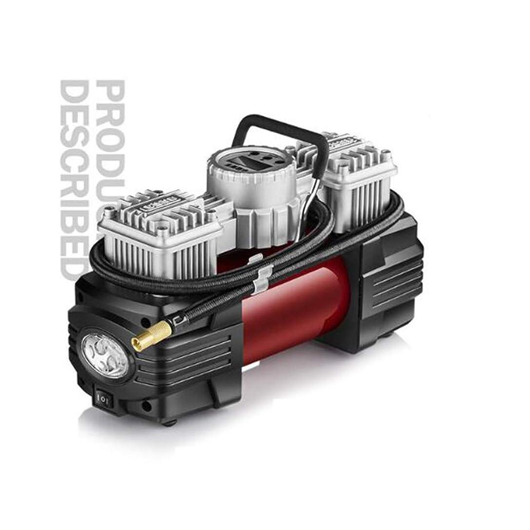 警戒適用する盟主QXKMZタイヤインフレータ、自動デジタルタイヤインフレータポータブル電動ポンプ、格納するのは簡単