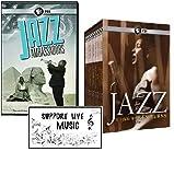 "THE HISTORY OF JAZZ - 11 DVDs (Jazz Ambassadors + Ken Burns: Jazz) Plus Bonus ""Support Live Music"" Sticker"
