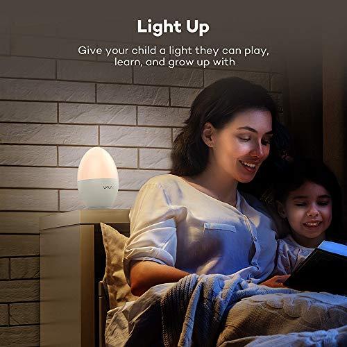 Night Light for Kids, VAVA LED Bedside Lamp for Children, Baby Nursery Lamp for Breastfeeding Safe ABS, Break Resistant, Eye Caring, Adjustable Brightness & Color, Touch Control, 80 Hr Runtime