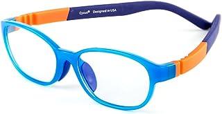 شیشه های بلوک کننده نور آبی Cyxus Kids (Superior TR90) Shield Computer Eyewear -00 عینک مخصوص بازی ذره بین کودکان (قاب 5-8 ساله آبی)