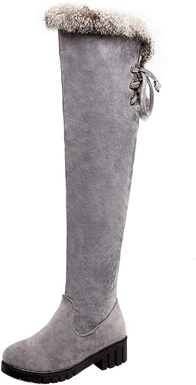 CularAcci Women Mid Heel Over The Knee Boots