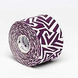 Tape de Sixtus Italia–Dream K Tribe 5cm x 5m–Color Blanco y Lila de El Deporte Tape con efecto Kinesio–más rápido y cómodo Tape Vendaje