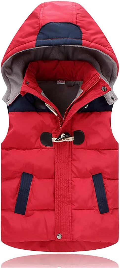 GHURFNP Children Hooded Vests Warm Outerwear Sleeveless Jackets Autumn Winter Thicken Waistcoats