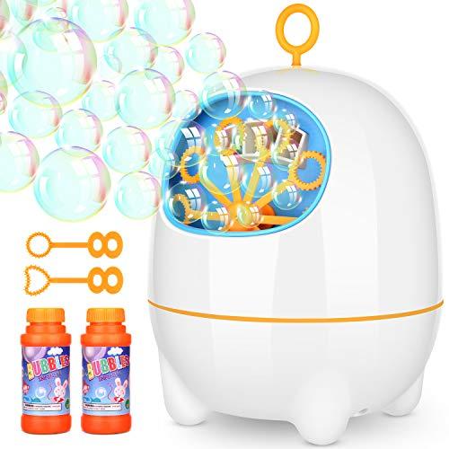 Elover USB Cargada Máquina de Burbuja Automática Soplador de Burbujas Portable con 2 Velocidad Adjustable Alto Rendimeinto para Externo y Interno Fiestas Bodas