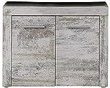 trendteam Muebles Gabinete de la vanidad, Pino, Blanco, 72 X 56 X 34 cm