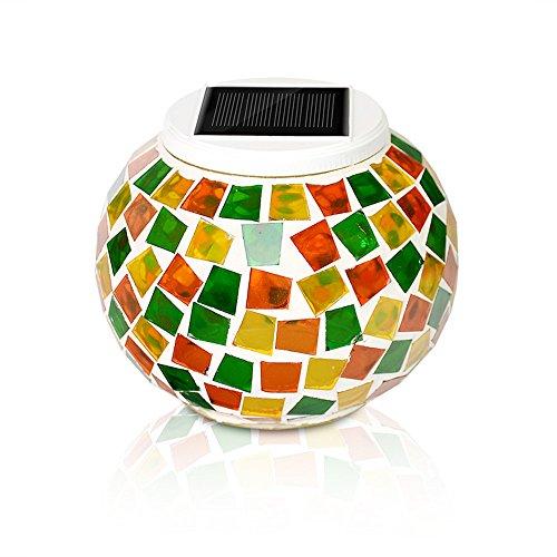 Mosaico Solar luz, kasimo LED Solar Bola Lámpara de mesa
