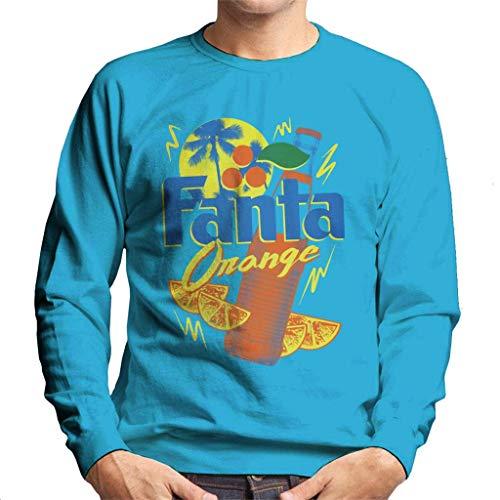 Fanta Oranje Fles 90s Zomer Heren Sweatshirt