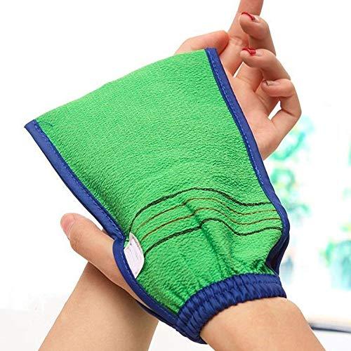 2020 Lot de 2 gants de bain double face pour nettoyage du corps