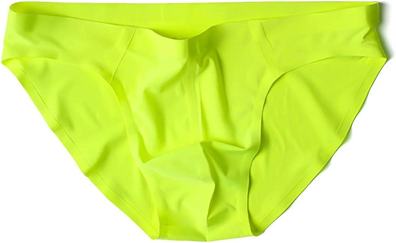ADAHOP Traceless Ice Silk Men's Briefs Low Waist Breathable Underpants