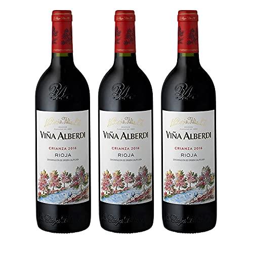Vino tinto Viña Alberdi Crianza de 75 cl - D.O. La Rioja - Bodegas La Rioja Alta (Pack de 3 botellas)