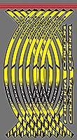 WhaleZ 高品質12PCSモーターサイクルアウターリム反射ステッカーストライプホイールデカール For HONDA CB1000R cb 1000r 用