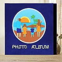 写真アルバムの革カバー大容量の革家族の子供の赤ん坊の成長の結婚式の挿入物のアルバム、b