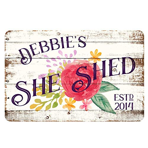 INNAPER Personalized She Shed Metal Sign Custom Sign