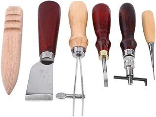 Kit de gravure sur cuir Ensemble Cousu à La Main, Outil De Fabrication Du Cuir, Taille-crayon, Ensemble D'outils De Meulag...