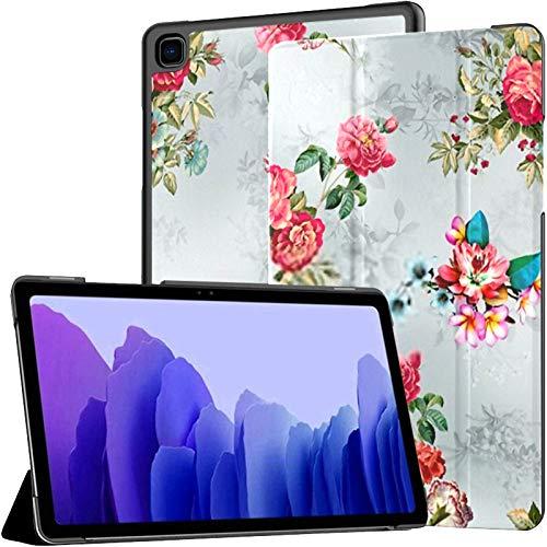 Funda para Tableta Samsung A7 Patrón sin Costuras Flor de Acuarela Funda de diseño Digital para Samsung Galaxy Tab A7 10.4 Pulgadas Funda Protectora de liberación 2020 Funda Protectora para Samsung G