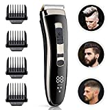 Xhaus Hair Clippers Mens Professional Cordless Hair Trimmer Electric Haircut Kit, USB Rechargeable Ceramic Blade Hair-Trimmer for Men