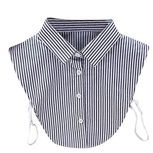 Abnehmbares Revers-Hemd für Damen und Erwachsene, gestreifte Bluse, falscher Kragen,...