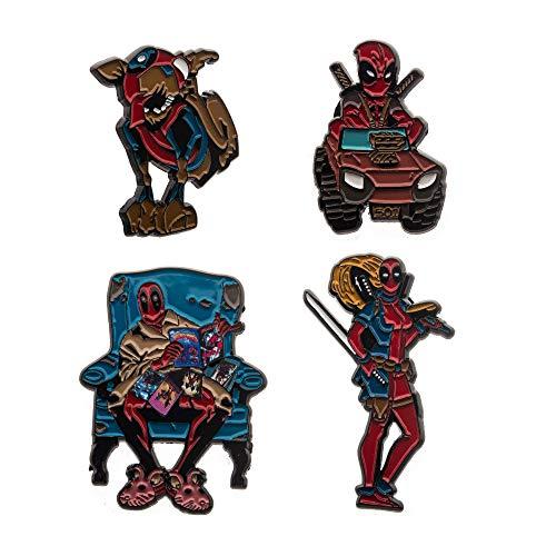 Marvel Deadpool Family Enamel Four Pin Set (Amazon Exclusive)