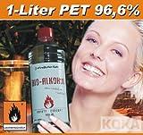 BioEthanol BioAlkohol für Kamine 1-Liter-Flasche