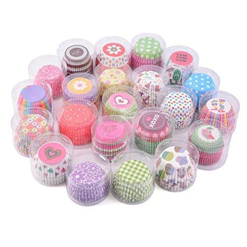 Tininna - Lot de 100 caissettes moules à muffin en papier