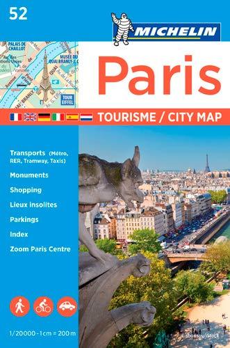 Plano Paris Tourisme (Michelin City Plans)