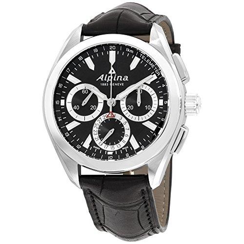 Alpina Alpiner 4 AL760BS5AQ6 - Reloj de Pulsera para Hombre, Esfera Negra, Correa de Piel, Color Negro